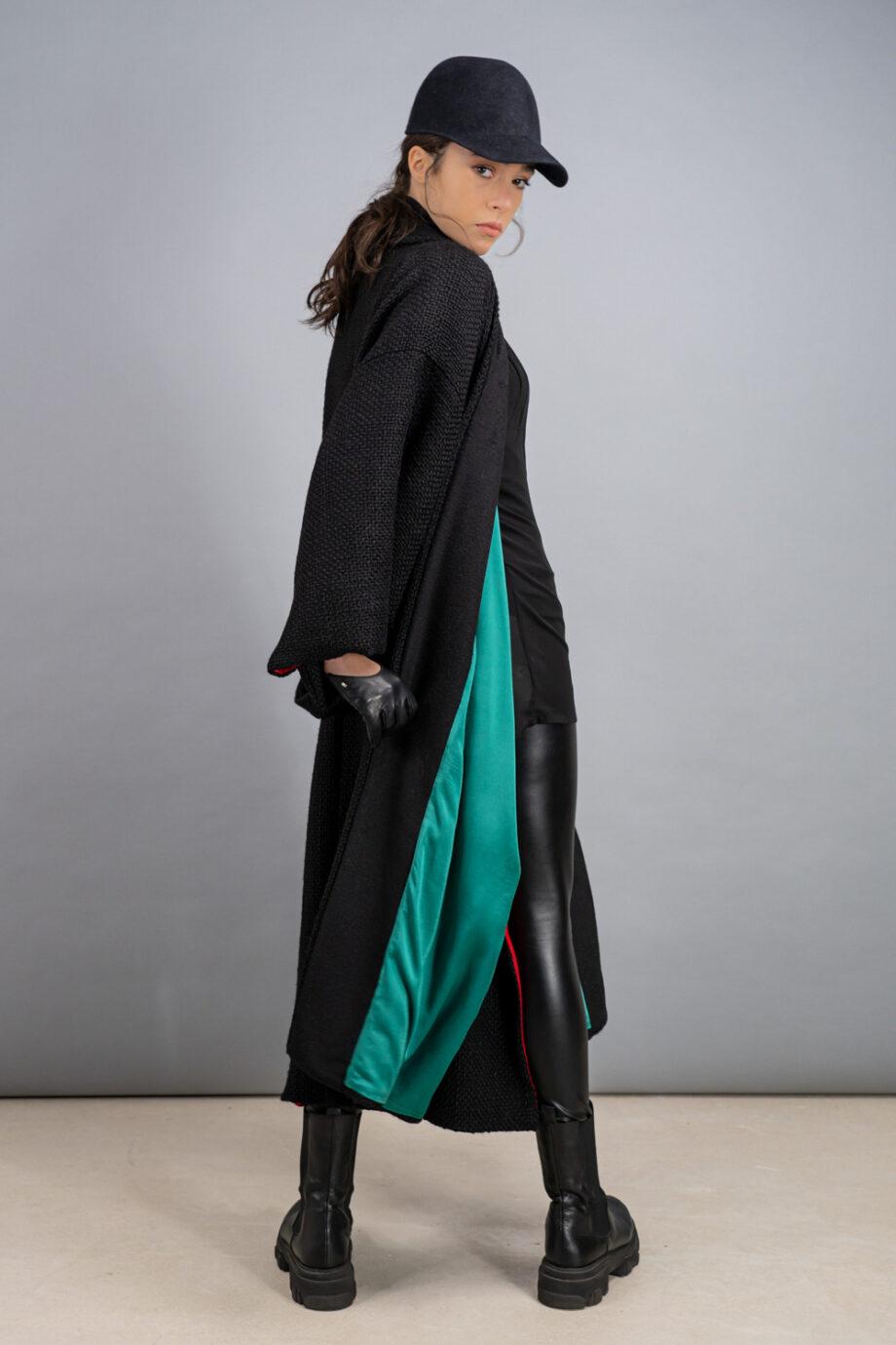 lana intrecciata nero